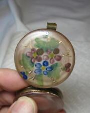 Antique French Enamel Box Pill Dresser Hand Painted France Art Nouveau Deco
