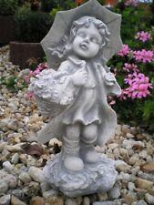 """Gartenfigur """"Christiane mit Schirm"""" 39 cm Menschen, Steinguss, Statue Gartendeko"""