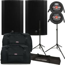 Mackie Thump TH-15A 2017 1300W Powered Speaker Pair w/ Bags, Cables & Stands