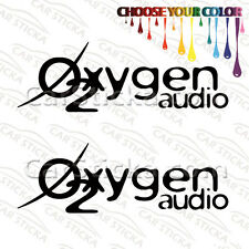 "2 of 8"" Oxygen O2 Audio /C aftermarket car window bumper stickers decals"