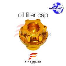 Gold CNC Oil Filler Cap 1pc For Kawasaki ER-6N 06-16 08 09 10 11 12 13 14 15 16