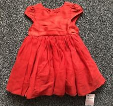fe91ef50b9582 Mothercare Red Puffy Party Dress Baby Girl 9 - 12 Months Wedding Christmas