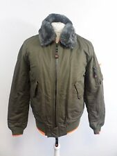 Mens Superdry Aviator Bomber With Faux Fur Collar 2XL box56 32 H