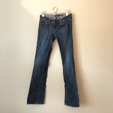 Ed Hardy Women's Jeans Size 27 Dark Wash Bling Embellished Skull Heart