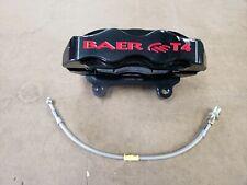 1988-1996 Corvette C4  Baer Track4 T4 BLACK Front Right Brake Caliper and Hose
