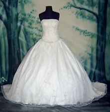 Wedding Dress Bridal sz 14 Casablanca #48 Gown In Stock