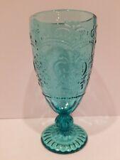 The Pioneer Woman - 14.7oz. Amelia Tea Goblet Embossed Glass in Teal