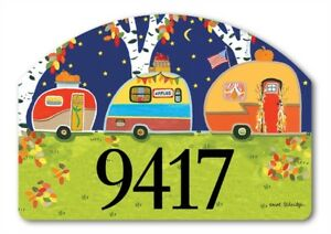 Yard Designs Fall Camping Magnetic Yard Art House Garden Sign Plaque 14x10