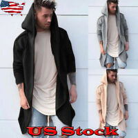 NEW Men's Women Outwear Hooded Coat Long Trench Jacket Warm Cardigan Casual Cape