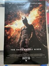 27x40 Original Dark Knight Rises movie Poster Signed christian Bale Beckett Cert