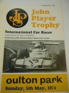 JPS TROPHY OULTON PARK PROGRAMME 1974 FORMULA ATLANTIC PINCH LYNCAR MODUS GENIE