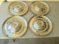 "SET of 4 Vintage 1953 Chrysler Hubcaps Wheel Covers 15"""