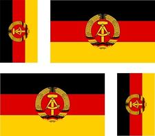 4x allemagne rda ddr east flag decals autocollant scooter voiture vinyle bagages casque