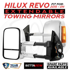 BettaView Extendable Caravan Towing Mirrors TOYOTA HILUX REVO 2015 To Current