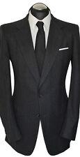Hickey Freeman Anzug Gr. 98 handgenäht Schurwolle 100% Dunkelgrau handmade USA
