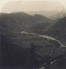 Chamonix La vallée Col des Aravis Stéréo Stereoview Vintage ca 1920