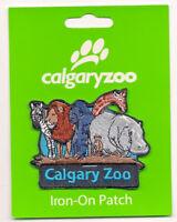 Calgary Zoo Alberta Canada Souvenir Patch