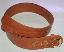 WESTERN COWBOY Natural Tan Brown Cowhide Leather BELT For GUN &HOLSTER M 36-38