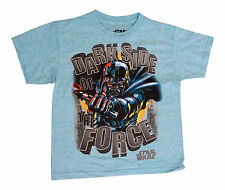 Star Wars Darth Vader Dark Side of the Force Light Blue Boys Youth Small T Shirt