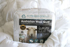 NEW Quilt Wool DB Australian Washable Duvet/Doona 500g 5 Blanket SB/DB/QB/KB/SK