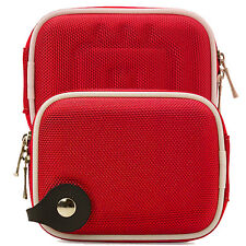 Red Nylon Eva Digital Camera Strap Carrying Case Bag for Nikon COOLPIX L26