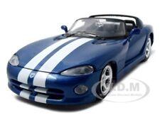 1997 DODGE VIPER RT/10 BLUE 1:24 DIECAST MODEL CAR BY MAISTO 31932