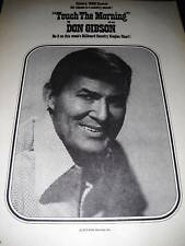 DON GIBSON 1973 Promo Poster Ad TOUCH THE MORNING mint