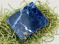 Sodalite Gemstone Slab with Polished Face Chakra Healing Stones Reiki Lapidary