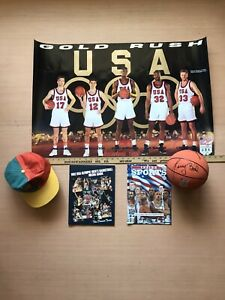 Lot DREAM TEAM USA NBA Small Ball, Mags, Posters, TOA Hat Cap JORDAN BIRD MALONE