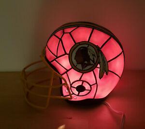 Washington Redskin's Tiffany Style Helmet Bradford Exchange Accent Lamp * Rare