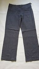 WOMENS PINSTRIPE TROUSERS SIZE 10 LINEN MIX  MARKS AND SPENCER