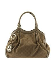 Gucci Sukey Beige GG Corduroy & Leather Tote