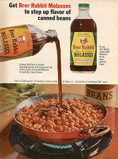 1965 Print Ad of Green & Gold Label Brer Rabbit Molasses Baked Beans