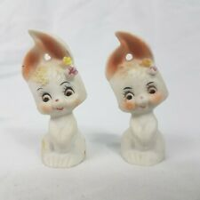 Vintage Bunny Rabbit Kitch Ornaments Figurines x 2 Small