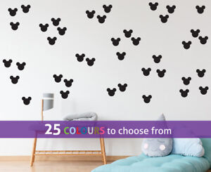 MICKEY MOUSE various head shape size packs wall art sticker decal disney nursery