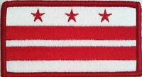 District of Columbia Washington DC Flag Iron-On Patch Emblem Red Border #02