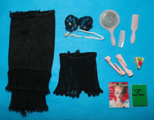 Vintage Barbie PAK 1960's BLACK Fashion Undergarments/Lingerie w/ Accessories