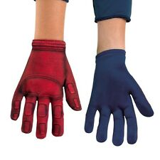 Childs Red Blue CAPTAIN AMERICA Gloves Gants Boys Costume Accessory