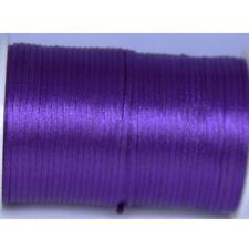 purple 2mm Rattail Satin Cord Macrame Beading Nylon kumihimo String DIY 10yds