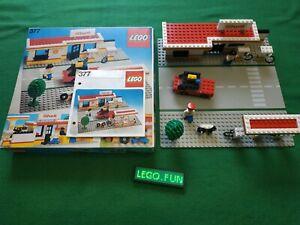 LEGOLAND® 377 Shell Tankstelle +OVP+OBA/station +box+instr. town vintage 1978