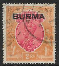 More details for burma 1937 2r. carmine & orange sg 14 (fine used)