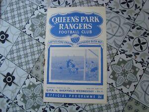 QPR v Sheffield Wednesday Mar 1950
