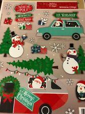17 CHRISTMAS WINDOW CLINGS NEW
