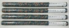 NIP lot of 4 rolls Schumacher green floral paisley prepasted wallpaper 40 yd