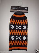 New Cute Friends Forever Dog Apparel Halloween Dog Sweater Skull/Cross Bones XS