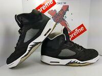 Men's Nike Air Jordan 5 V Retro Oreo 2013 Black White Size 11.5 136027-035