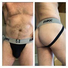 "BIKE Men Jockstraps 2"" Waistband Underwear Black Jock Vintage Size Medium"