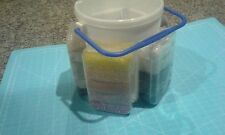 Craft storage caddy full of small beads - Gently used.  25 bead colors & tool