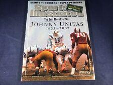 N3-72 SPORTS ILLUSTRATED MAGAZINE - SEPTEMBER 23, 2002 - JOHNNY UNITAS