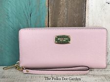 MICHAEL KORS JET SET LEATHER BLOSSOM PINK  CONTINENTAL WALLET NWT $168